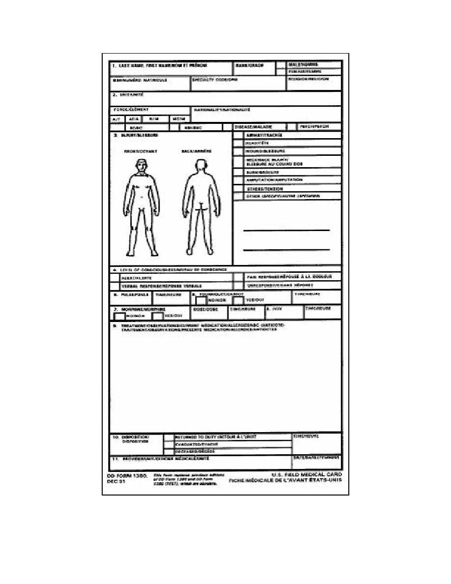 Figure 7-1. DD Form 1380, U.S. Field Medical Card (front)
